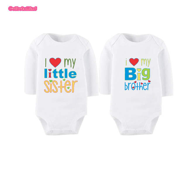 Online Shop Culbutomind Twin Clothes I Love My Little Sister Big