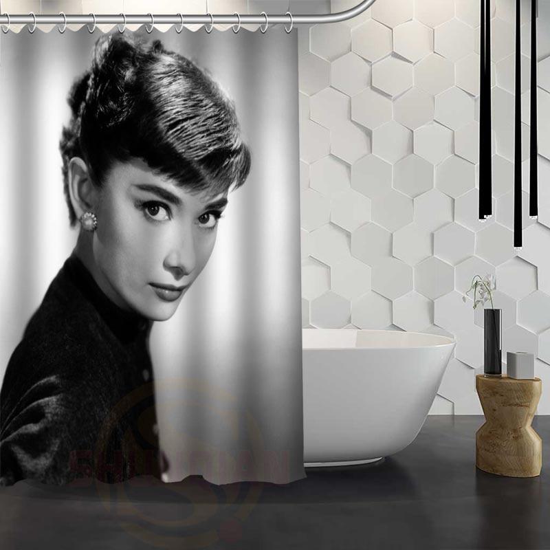 audrey hepburn shower curtain pattern customized shower curtain bathroom fabric for bathroom