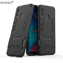 For Samsung Galaxy A20e Case Robot Armor Hard PC TPU Phone Cover for Core A202F