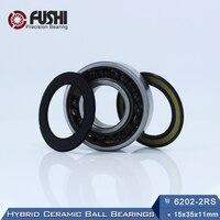 6202 Hybrid Ceramic Bearing 15 35 11 Mm ABEC 1 1 PC Industry Motor Spindle 6202HC