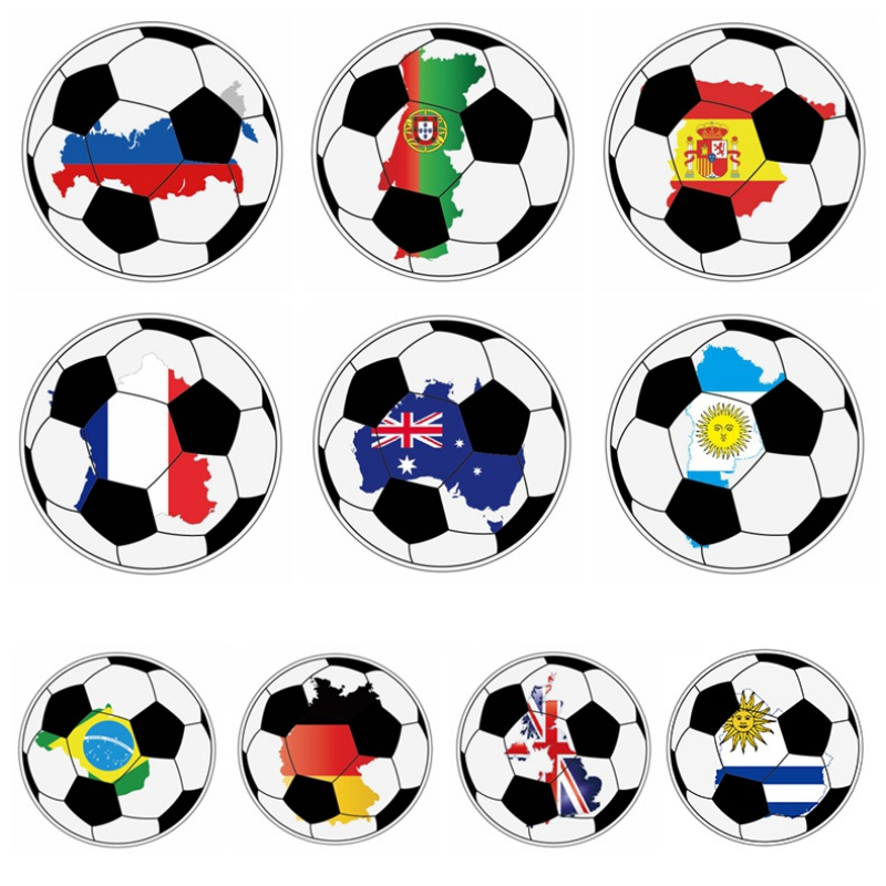 Soccer Badges Pins On Cloth/Bag Decoration Pin On Brooch Badge Kid Gift Party Supplies Замок