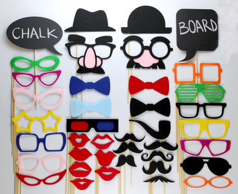 DIY Set Of 40 Party Pack Wedding Photo Booth Props Game Decorations Supplies Masks Glasses Mustache In Favors From Home Garden On