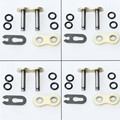 4 pcs lot Heavy Duty 520H 520 Chain Connecting Master Link W/ O-Ring Seal for Motorcycle Dirt Bike ATV Quad Gold