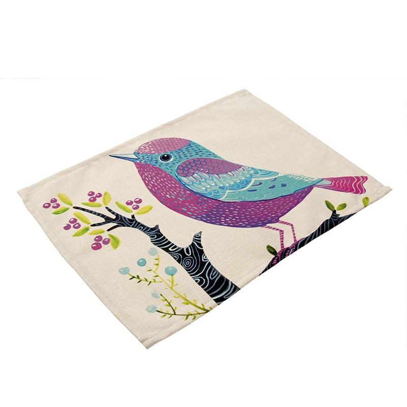 1 stück Handgemalten Blumen Vogel Muster Baumwolle Leinen Westlichen ...