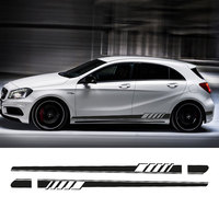 2017 NEW Edition 1 Style Side Skirt Racing Stripe Decal Stickers for Mercedes Benz W176 A Class A180 A200 A250 A45 AMG
