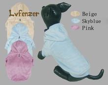 Pet Products Dog Supplies Parkas cotton solid Puppy Winter warm Coat Clothes With Cap