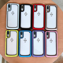 Silicone Rugged Transparent Shockproof Cover Clear PC Back Phone Case For Huawei P20 Pro Lite
