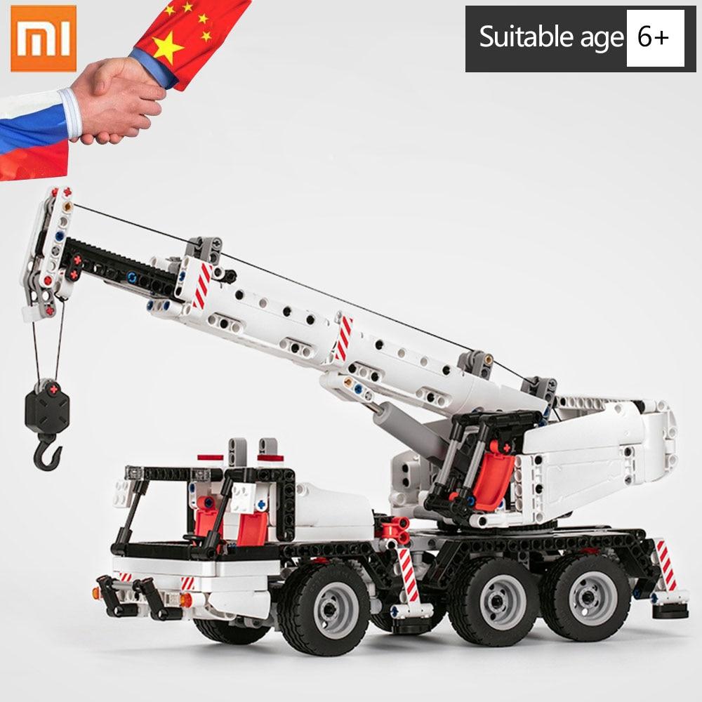 Xiaomi Mitu Building Blocks Engineering Crane DIY Toys Car Truck Mi Blocks Intelligence Toys Gift for