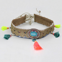 Fashion Tassel Waist Belt For Woman Bohemian Fringed Shell Turquoise Female Decoration Belt For Dress