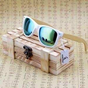 Image 1 - BOBO BIRD Bamboo Sunglasses Women Polarized Sun Glasses Man Mirror gafas de sol with Wooden Gift Box CG007 Dropshipping OEM