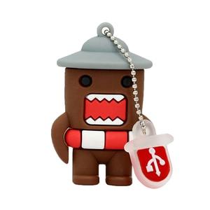 Image 2 - Cartoon Pen Drive 64GB Japanese Domo Kun Girl Lovely Creative USB Flash Drive 4GB 8GB 16GB 32GB USB Flash Memoria Stick Disk