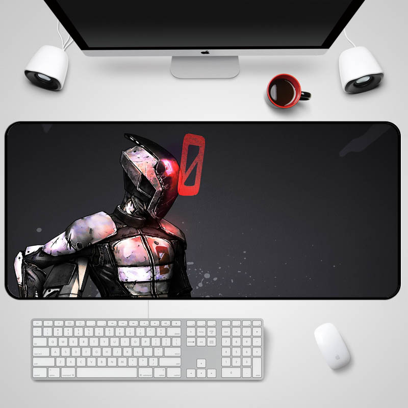 Mairuige The Game Borderlands 2 Fps Game Mousepad Heros Zero Assissin Big Rubber Comfortable Wear Mousepad As Gift for Friend