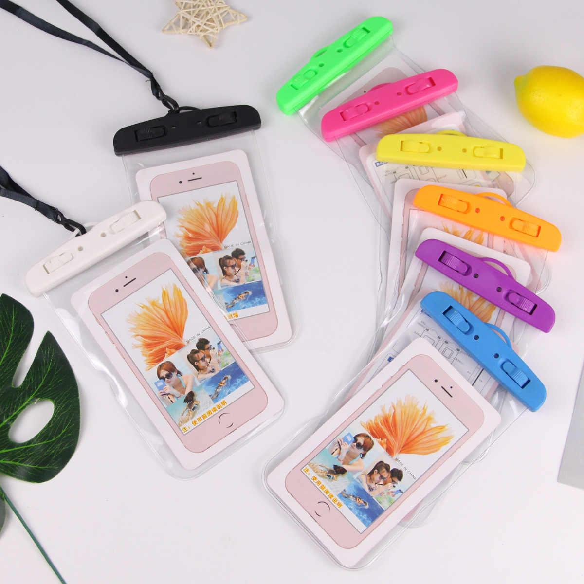 Menyelam Arung Jeram Tas Tahan Air untuk iPhone Ponsel Disegel Tas untuk Xiaomi Renang Pouch untuk Samsung untuk Huawei Universal