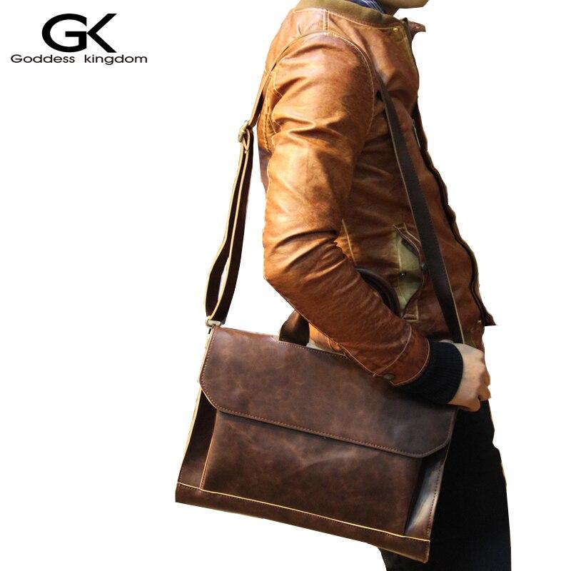 ФОТО GODDESS KINGD pu men shoulder bag tote bags gentle men business handbags contract bags men messenger bag vintage and chic  M1953
