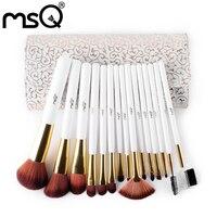 15Pcs Foundation Makeup Brushes Set Make Up Brushes Kits With PU Leather Case Cosmetics Beauty Tools