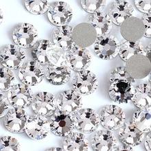 1440pcs Crystal Clear Non HotFix ss3-ss12 Nail Art Decorations Rhinestone 3D Glass Gems Stones DIY Rhinestones