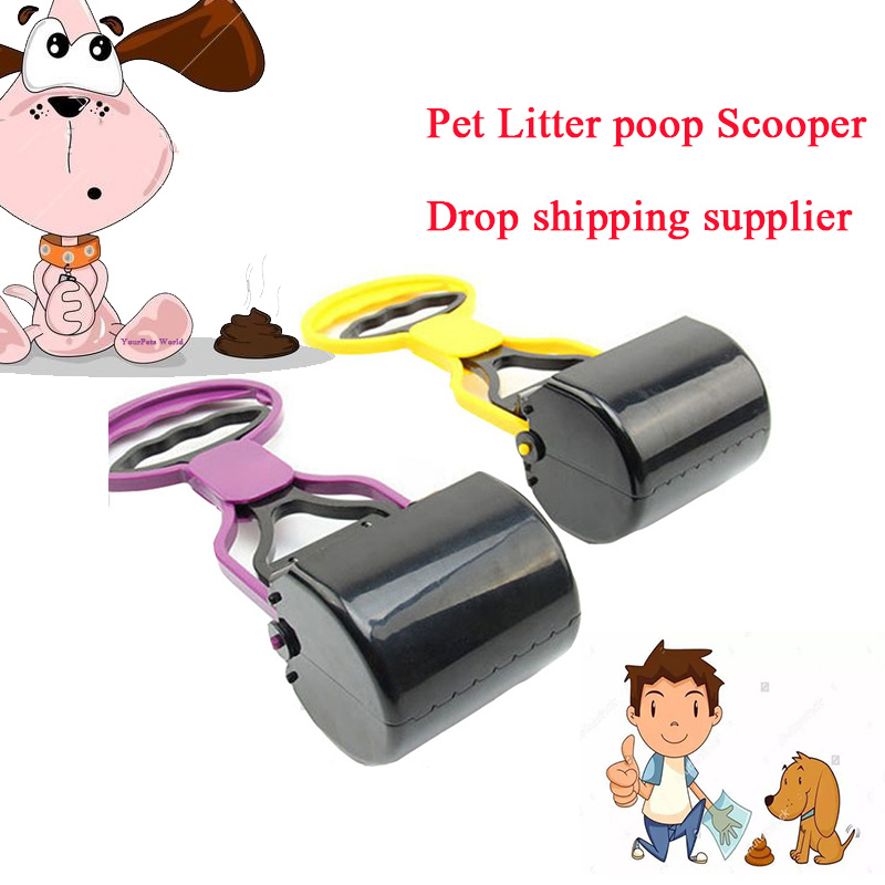 Long Handle Pet Litter Pooper Scooper Cleaning Tool Portable Dog Cat Pet Home/outdoor Clean Pick Up Waste Dog Shit Scooper