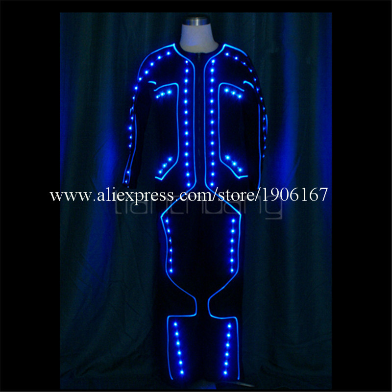 LED Light up Tron dance Costumes4