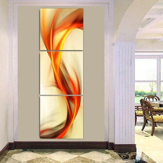 3 stück Leinwand Kunst Abstrakte Hause Gemälde Set Gelb Orange Winde ...