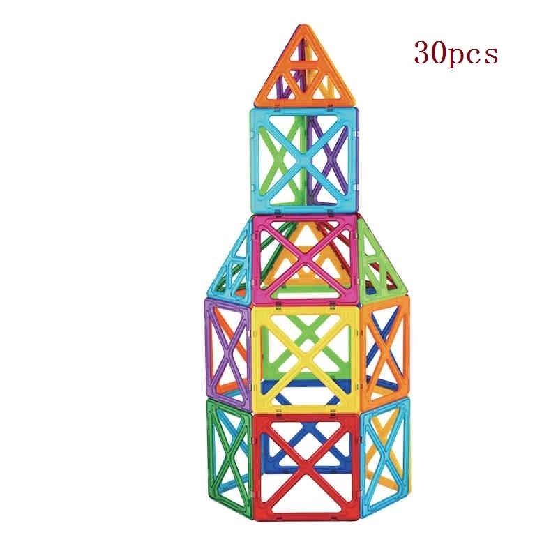 30PCS Magnetic Designer Construction Toy Kids Educational Toys& construction toys for toddler Designer magnetic toy Magnet model construction