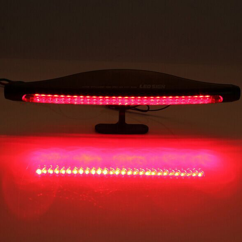 1PCS 28 LED Car Third Rear Tail Brake Light High Mount Quality Stop Lamp 2W 12V Source Red LED Backup Lights 40 led 34cm dc12v led light vehicle car light source auto fog stop tail rear brake warning light lamp high quality red