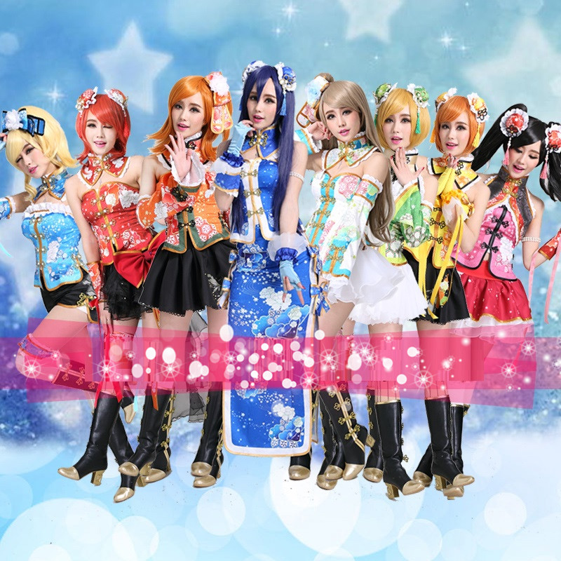 Girls love live maki nishikino cosplay minami kotori awaken lovelive sunshine cosplay cheongsam costume anime cosplay uniform-in Holidays Costumes from Novelty & Special Use    1