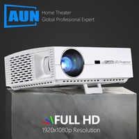 AUN Full HD Proiettore F30, 1920x1080P Pixel, 6500 Lumens.3D LED Beamer per Home Theater. Versione di Android F30UP Supporta 4 K/5G WiFi