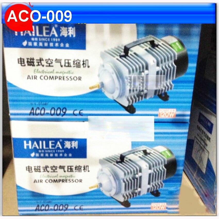 ACO-009 110L / min 120W Oxygen fish tank air pump 220 V AC Electromagnetic pond aerator bubble Aquarium air compressor