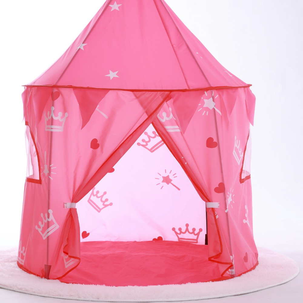 new style 45135 dab8c US $22.18 35% OFF|Play Tent Toy Pink Princess Castle Teepee Portable  Foldable Ball Pool Pit Indoor/Outdoor Cubby Playhouses Toys For Children  Kids-in ...