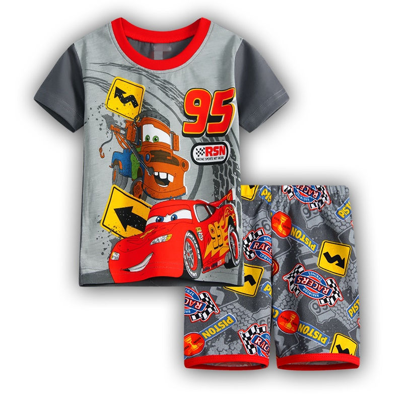 Hot 2016 summer shorts baby boy clothes boy cotton casual clothing set kids boys cartoon set baby 2 pcs clothing set k03