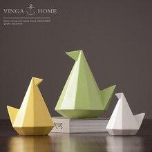 Nordic modern ceramic bird figurines home decor white creative birds ornament crafts room decoration porcelain animal