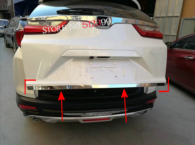 Stainless Steel Rear Tail Trunk Gate Lid Molding Cover Trim 1pcs Car Styling for Honda CRV