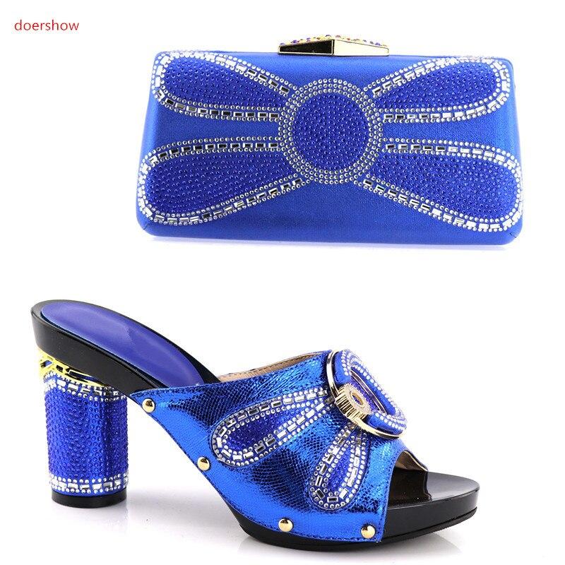 Strass Vert Sac Haute Ensemble Africains Femmes De Shv1 13 Qualité Chaussure Et Argent Chaussures Avec Italien Décoré Doershow OdYxqgO