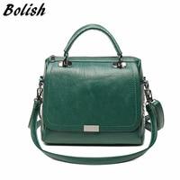 Bolish Casual Women Soft Pu Leather Handbag Female Shoulder Bag Messenger Bag Larger Size Winter Women