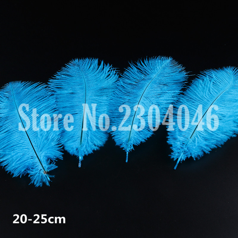50 high quality beautiful 20-25 cm (8 to 10 inches) ostrich feather dyeing lake blue dress fashion hair decoration