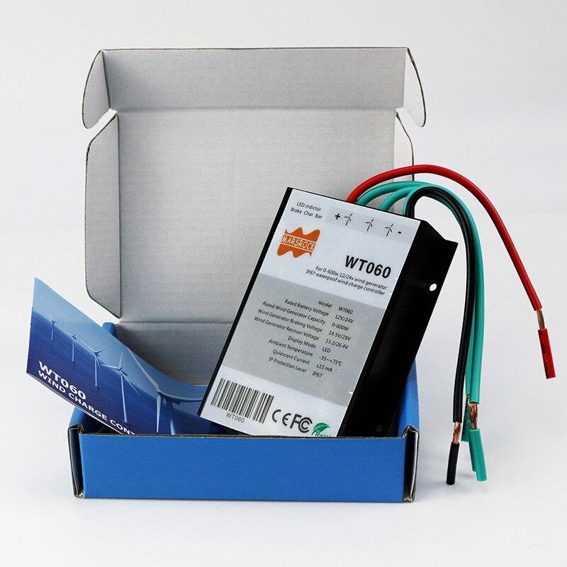 400 Вт 500 Вт 600 Вт 12/24V ветряной турбины контроллер заряда IP67 из водонепроницаемого материала с высокой эффективностью и самое лучшее рассеивание тепла