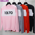 HZLLHX Free Shipping 2016 Autumn Pink/red/Gray/Black 1970 Print Autumn Wome's Pullovers hot fashion star top  Women Sweaters