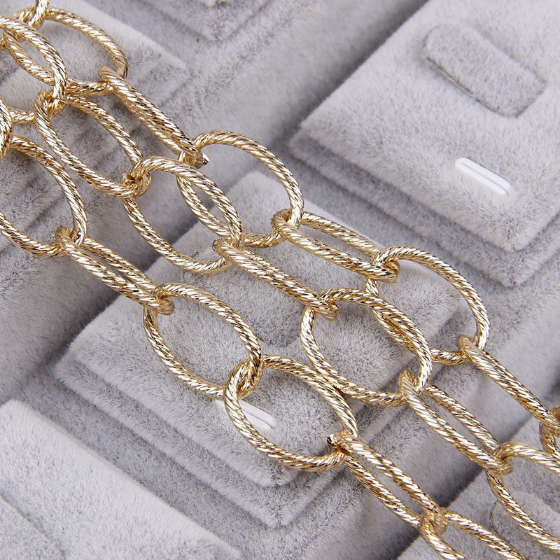 1.3x2.2x12x15.2mm Metal Gold O ShapeTextured Cable Necklace Curb Chains Bulk Fit Bracelets Open Link Chain DIY Jewelry Making1.3x2.2x12x15.2mm Metal Gold O ShapeTextured Cable Necklace Curb Chains Bulk Fit Bracelets Open Link Chain DIY Jewelry Making