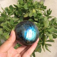 1pcs eye dazzing beautiful pure natural labradorite Crystal gemstone ball metaphysicial chakra energy stone as wedding ceremony