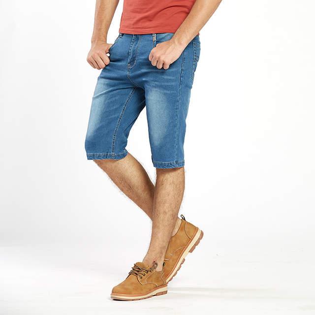 b89596bc1fbe Online Shop Drizzte Brand Mens Lightweight Stretch Denim Jean Shorts Blue  Short Plus Size Jeans for Men Summer Mens Short Pants Trouser   Aliexpress  Mobile
