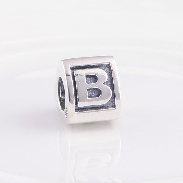 Alphabet beads letter B Charm Silver Beads Fit Pandora Bracelet Charms 925  Sterling Silver Jewelry Bead DIY for women Bracelet-in Beads from Jewelry  ...