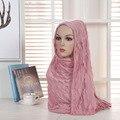 Mulheres quentes Xale Cachecol Hijab Muçulmano com Lantejoulas Bolha Chiffon Plain Xale Envoltório Hijab headband Cabeça Bonita Decoração
