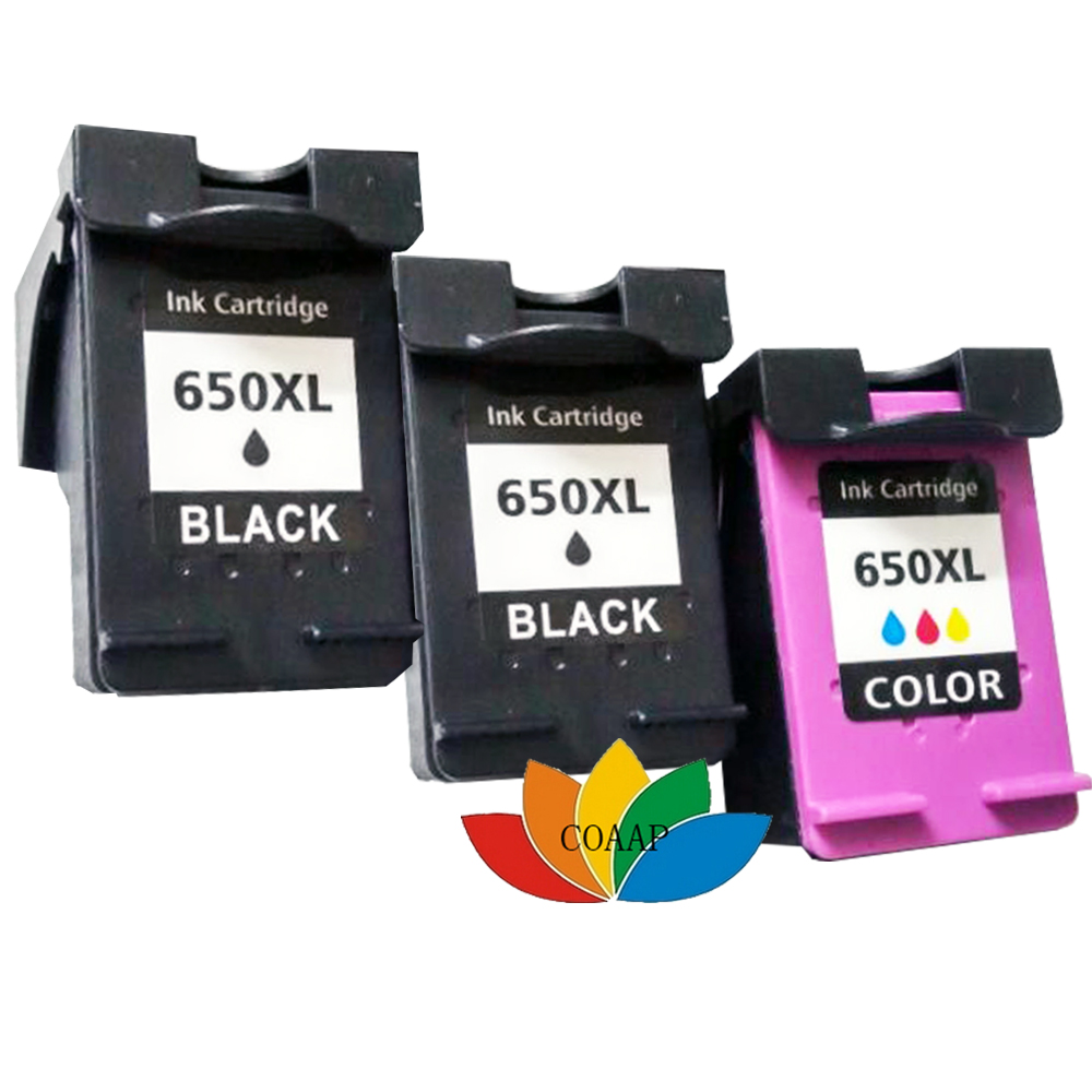 3x Refilled ink Cartridge for HP 650 650XL deskjet 1015 1515 2515 2545 2645  3515 4645 Inkjet Printer-in Ink Cartridges from Computer & Office on ...