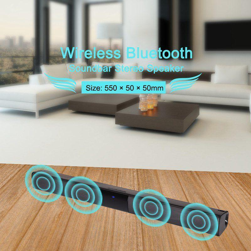 BEESCLOVER <font><b>TV</b></font> Heimkino Soundbar Subwoofer Drahtlose Bluetooth <font><b>Sound</b></font> <font><b>Bar</b></font> Lautsprecher System drahtlose soundbar mit Bluetooth r25 image
