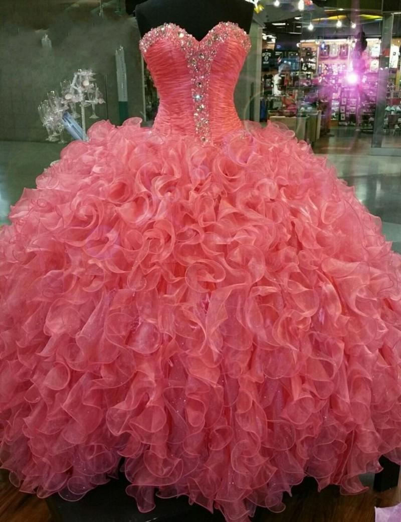 2018 Quinceanera party prom Ball Gown Organza With Crystal Beaded Sweetheart vestido de noiva mother of the bride dresses
