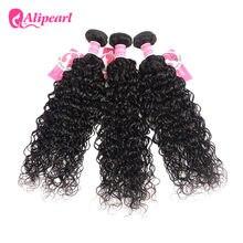 Ali inci su gölgeli brezilyalı saçı örgü demetleri insan saçı 3 ve 4 demetleri 8-26 inç doğal renk 1 adet remy saç uzatma