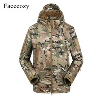 Facecozy Men 2019 Waterproof Outdoor Hiking Jackets Military Tactical Windproof Coat Softshell Camping Hunt Camouflage indbreak