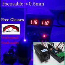 НАСТОЯЩЕЕ Высокая Мощность 2000 МВт/2 Вт 445nm 450nm Фокус Настроить синий Лазерный Модуль лазерного диода вырезать Гравировка TTL DIY ЧПУ Бесплатная очки