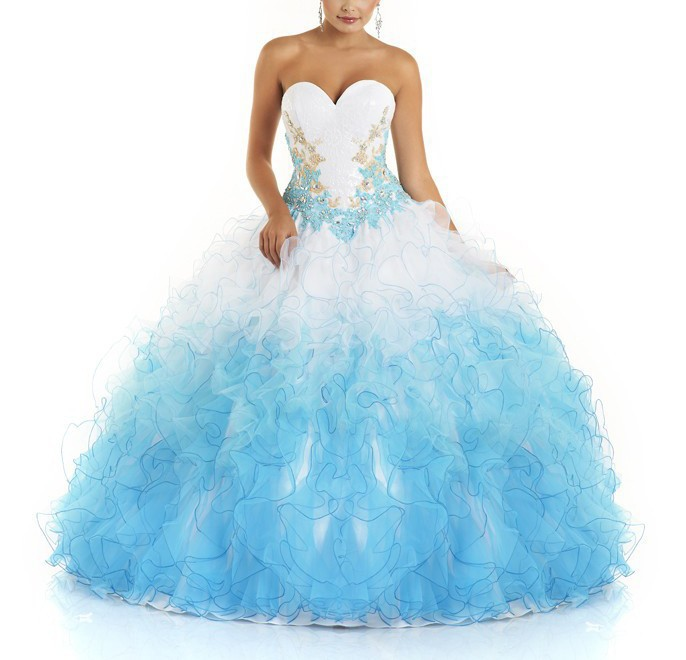 Cheap Girls Ball Gown Floor-Length Quinceanera Crystals Appliques Jacket Sweetheart vestido 15 Birthday Party   bridesmaid     dresses