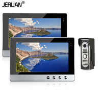 JERUAN Home safety system 10 inch Video DoorPhone Intercom System Kit Set + 2 Monitor + Night Vision Outdoor Camera In Stock